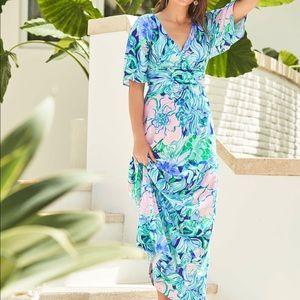 Lilly Pulitzer Party Thyme Parigi Maxi Dress